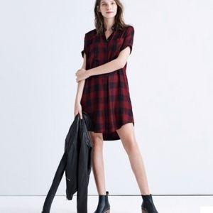 🆕️ Madewell Buffalo Plaid Courier Shirt Dress